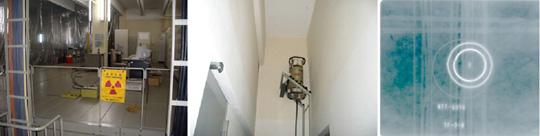 コンクリート壁の電線管X線撮影